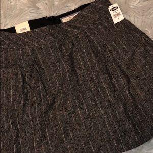 New Old Navy pleated wool tweed mini skirt